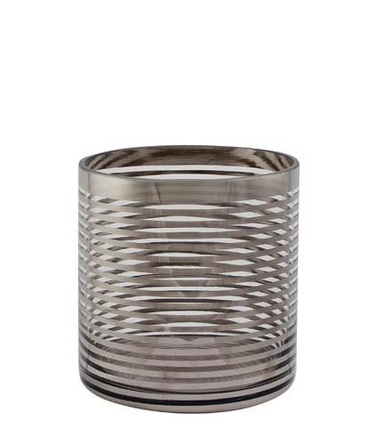 Kaheku Windlicht Pairas Ringe silber 12 Ø 12h