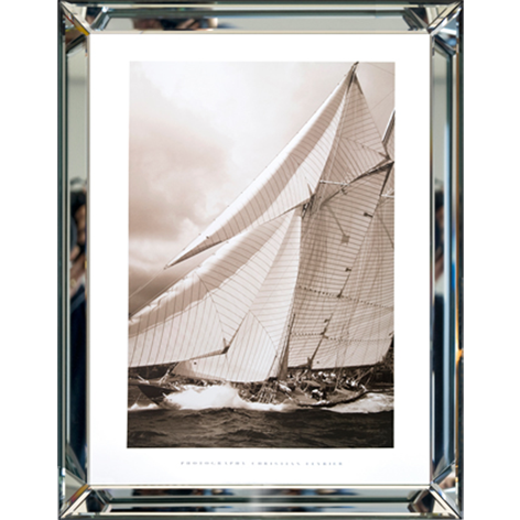 Zeilboot Spiegelrahmen60x80