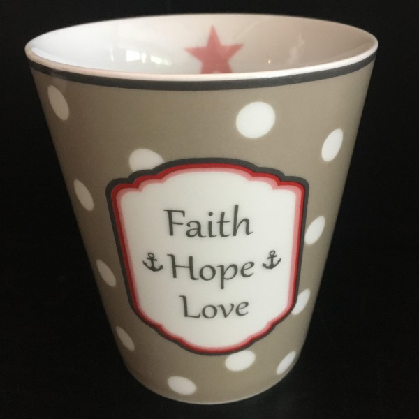 Becher faith hope love