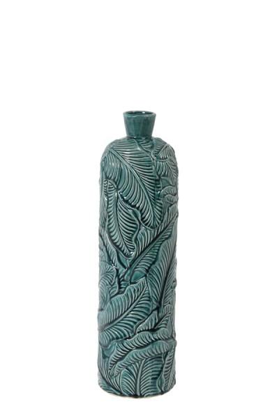 Vase Deko Ø16,5x59 cm LAVERO Keramik dunkel grün