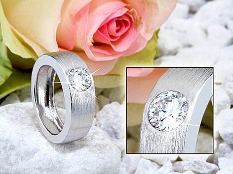 Ring 925 silber rhodiniert 70062