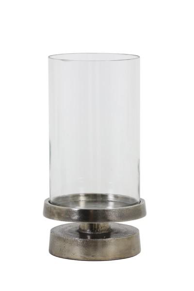 Windlicht Ø17x32 cm ORGADE black pearl mit Glas