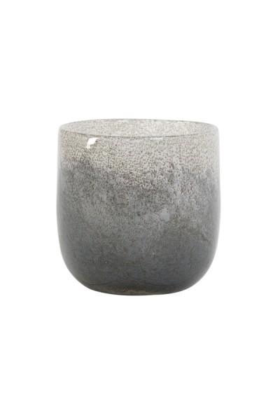 Vase Ø10,5x11 cm TATHRA Glas blau-weiss