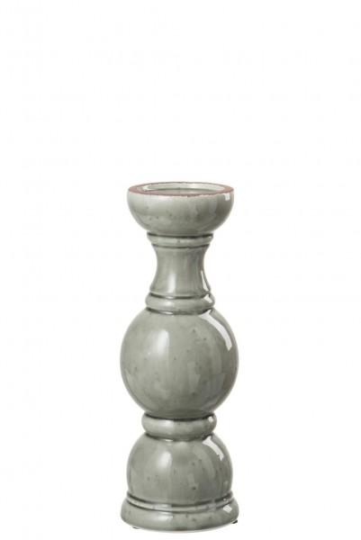 KERZENHALTZER KER GRAU M (13.5x13.5x38cm)