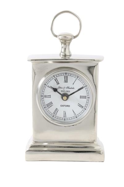 Uhr 10x6x17 cm HENDRICKS stehend Nickel