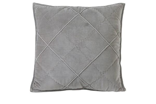 Kissen 50x50 cm DIAMOND velvet zement grau