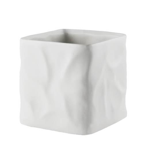 Kaheku Kübel Carta eckig weiss 14x14x14cm