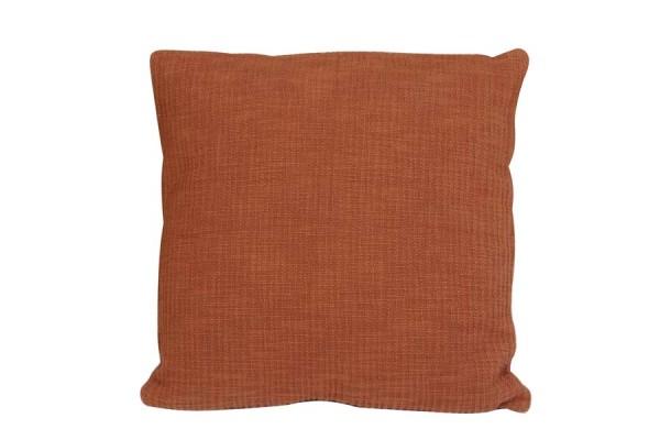 Kissen 50x50 cm ATHOS handgewebte Terrakotta