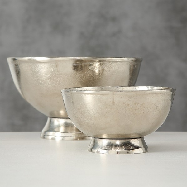 Schale Flaire, 2 tlg., Set 2, (silber/Aluminium)