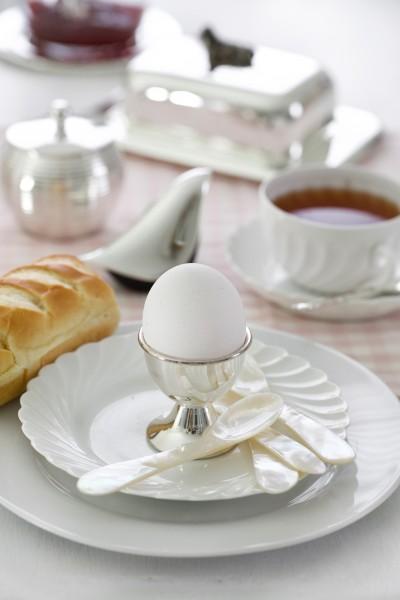 Perlmuttlöffel Kaviarlöffel Eierlöffel, hochwertige Handarbeit, abgerundete Ecken, Länge ca. 11 cm