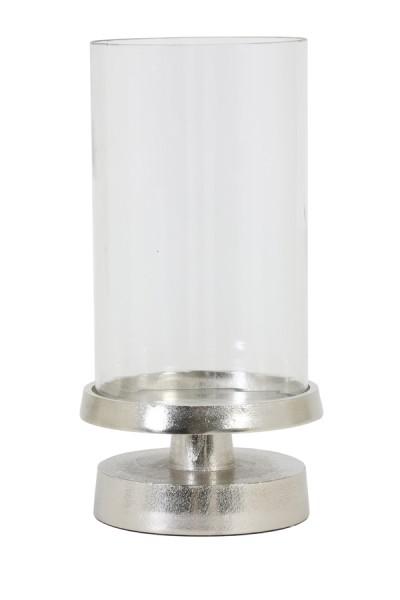 Windlicht Ø19,5x39 cm ORGADE nickel mit Glas