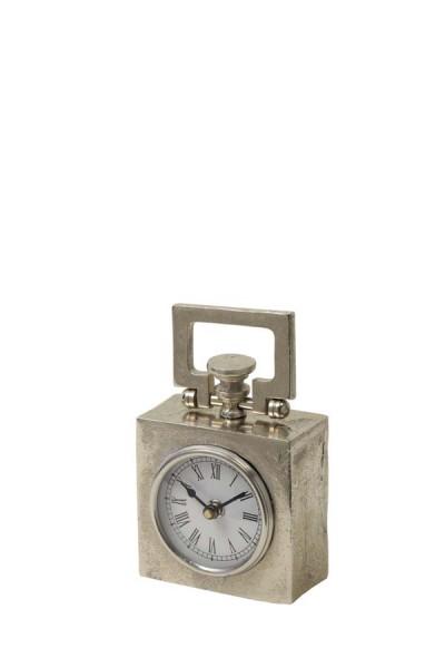 Uhr 10,5x5,5x14 cm BRADFORD roh Nickel
