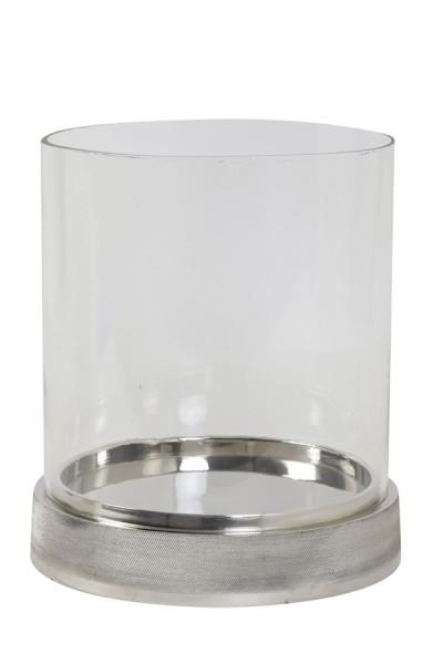 Windlicht Ø27x31 cm SIGOR glas+nickel