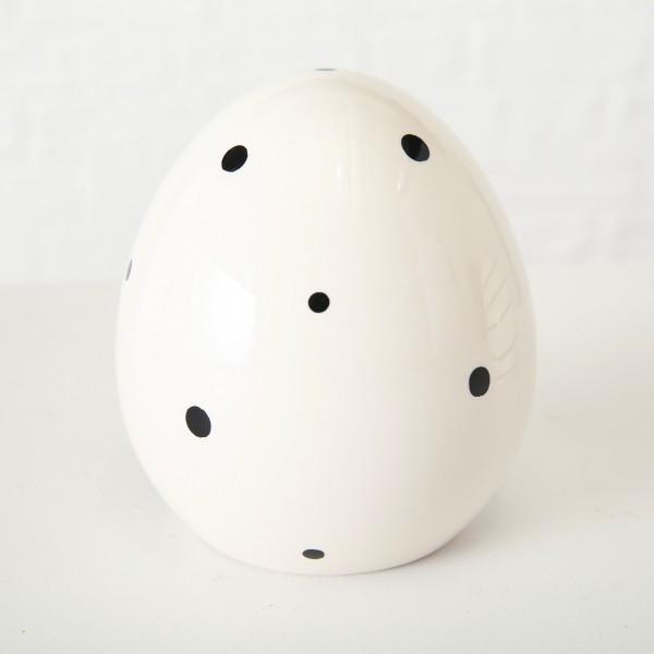 Dekoaufsteller Ei groß mit Punkten