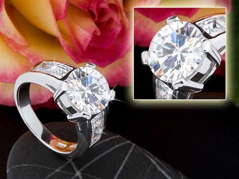 Ring 925 silber rhodiniert 5830