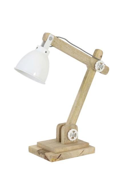 Light & Living Tischleuchte 50x15x45 cm ELMER Holz naturell+wei
