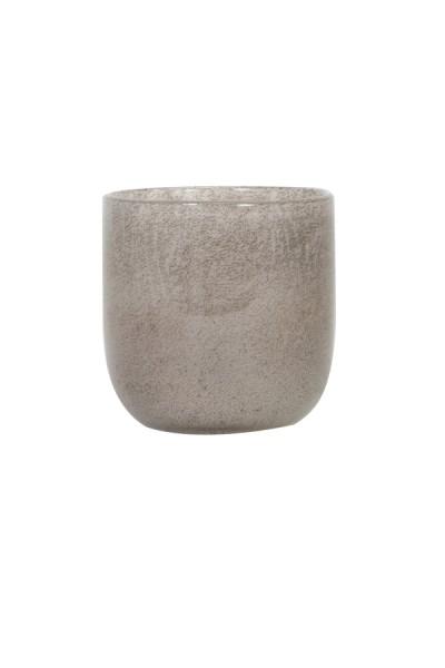 Teelicht Ø10,5x11 cm TATHRA effekt Glas grau