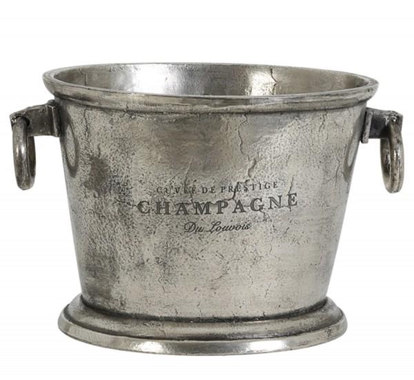 Sekt Halter 39x25x25 cm CRISTAL roh antik Nickel