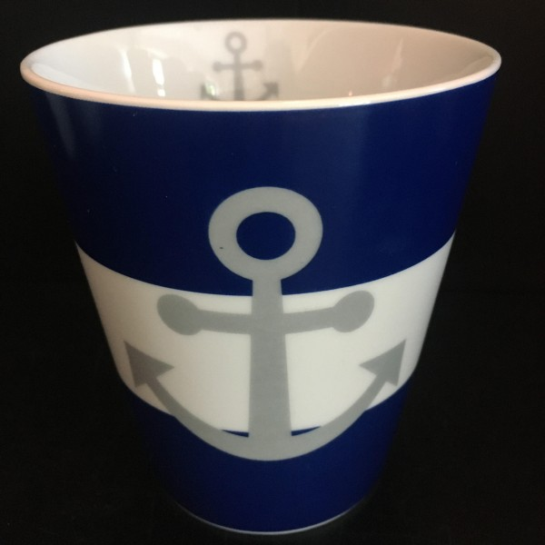 Mug, Dark Blue, Anchor